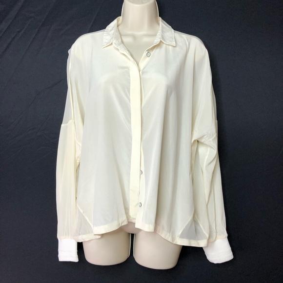9bac79b4d0166d rag & bone Tops   Rag Bone Off White Silk Button Down Blouse   Poshmark